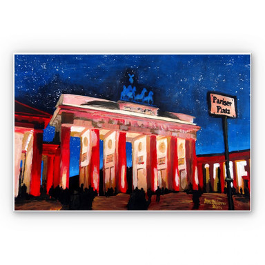 Hartschaumbild Bleichner - Berlin unterm Sternenhimmel