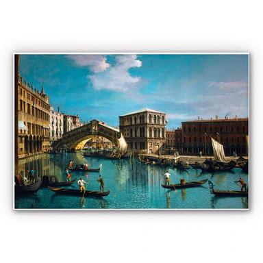 Hartschaumbild Canaletto - Die Rialtobrücke in Venedig