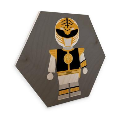 Hexagon - Holz Birke-Furnier Gomes - Power Ranger Spielzeug