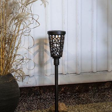 LED Solarleuchte Sinnia in Schwarz IP44