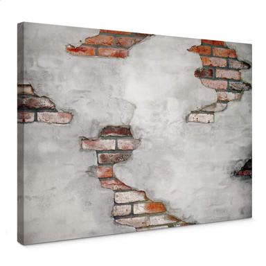 Leinwandbild Backsteinmauer 02