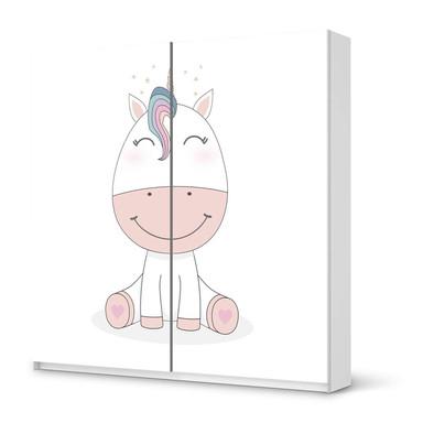 Möbel Klebefolie IKEA Pax Schrank 201cm Höhe - Schiebetür - Baby Unicorn- Bild 1