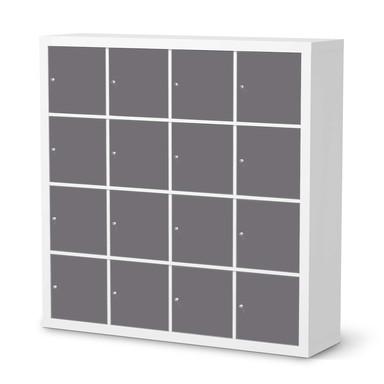 Möbelfolie IKEA Expedit Regal 16 Türen - Grau Light