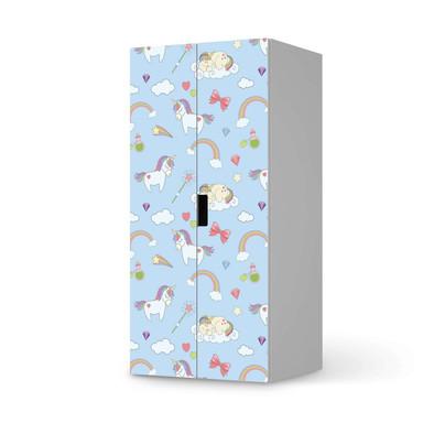 Möbelfolie IKEA Stuva / Malad Schrank - 2 grosse Türen - Rainbow Unicorn