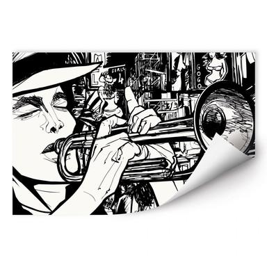 Wallprint Sound of a Street Musician