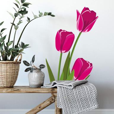 Wandtattoo Tulpen - pink