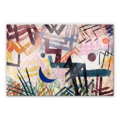 Acrylglasbild Klee - Spiel der Kräfte einer Lechlandschaft