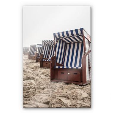Acrylglasbild Strandkorb auf Norderney