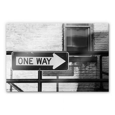 Acrylglasbild Street Sign One way