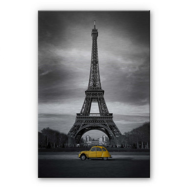 Alu-Dibond Bild La Vie est Belle - gelb