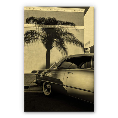Alu-Dibond-Goldeffekt Ochlich - Oldtimer in Palm Springs