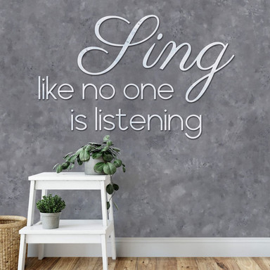 Fototapete - Sing like no one is listening