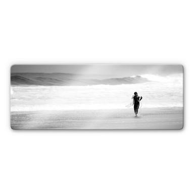 Glasbild Surfing