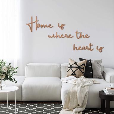 Holzbuchstaben Mahagoni - Holzbuchstaben Home is where the heart is (6-teilig)