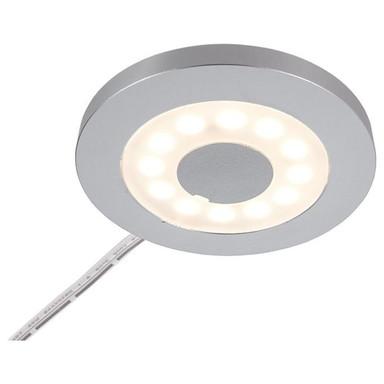 LED Möbelaufbauleuchte Paty Rund in Silber-Satiniert 2.5W 185lm