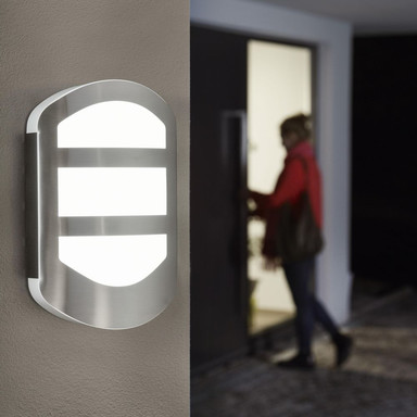 LED Wandleuchte Endura in Silber und Weiss 12W 600lm IP44