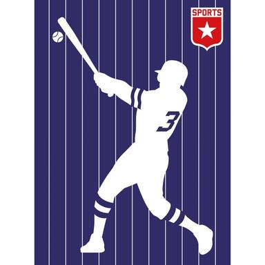 Livingwalls Fototapete ARTist Baseball rot, violett, weiss - Bild 1