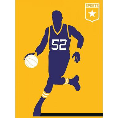 Livingwalls Fototapete ARTist Basketball gelb, violett, weiss - Bild 1