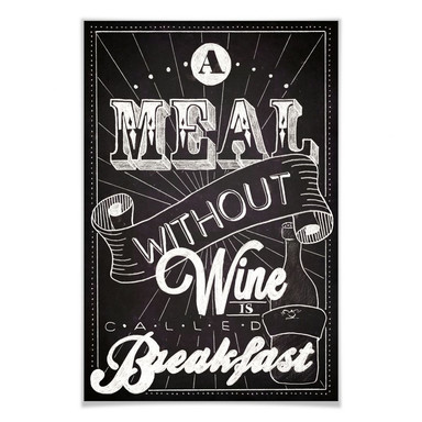 Poster A Meal without Wine