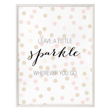 Poster Confetti & Cream - Leave a little sparkle wherever you go