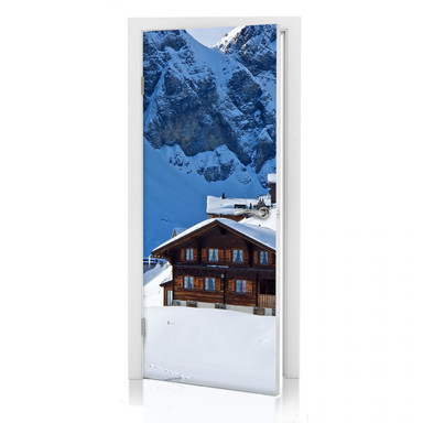 Türdesign Ferienhütte in den Schweizer Alpen - Bild 1