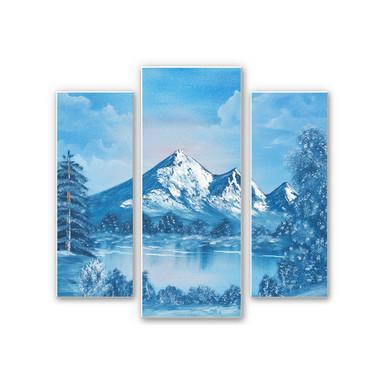 Wandbild Toetzke - Alpsee in den Bergen (3-teilig)