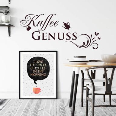 Wandtattoo Kaffee Genuss