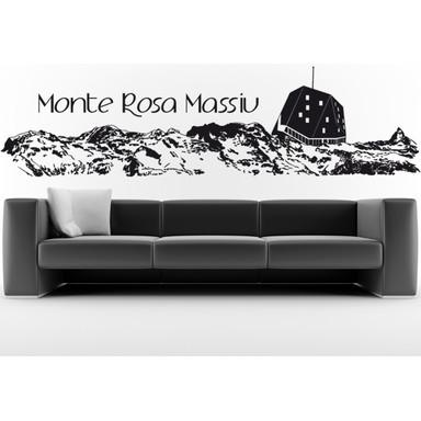 Wohnansicht - Wandtattoo Monte Rosa Massiv