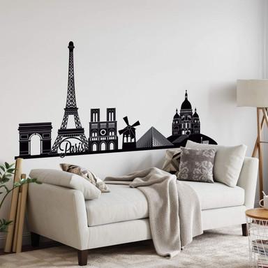 Wandtattoo Paris Skyline 2