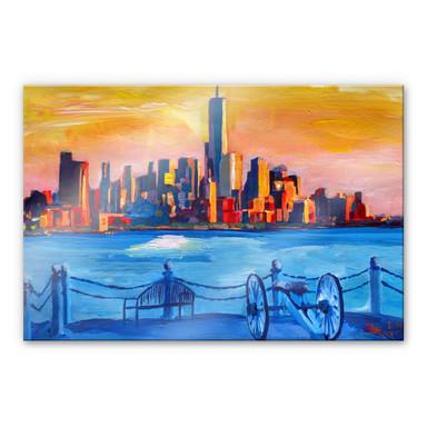 Acrylglasbild Bleichner - Blick auf New York City