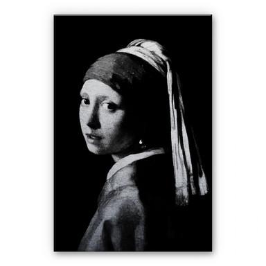 Alu Dibond Bild - Das Mädchen mit dem Perlenohrgehänge
