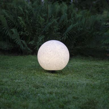 Gartenkugel Gardenlight in Weiss-Grau E27 400 mm