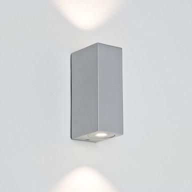 Geradlinige Wandleuchte BLOC LED silber