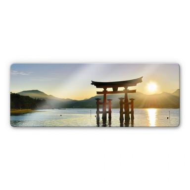 Glasbild Itsukushima Schrein - Panorama
