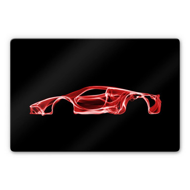 Glasbild Mielu - Red car