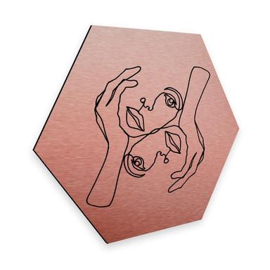 Hexagon - Alu-Dibond-Kupfereffekt - Hariri - Julie