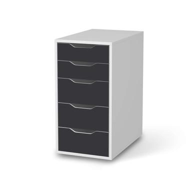 Klebefolie IKEA Alex 5 Schubladen - Grau Dark