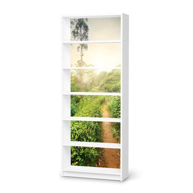 Klebefolie IKEA Billy Regal 6 Fächer - Green Tea Fields- Bild 1