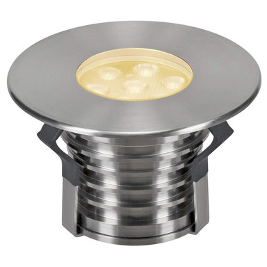 LED Bodeneinbauleuchte Dasar Premium, 3000K, 148 mm, IP67. Edelstahl 316. 60°