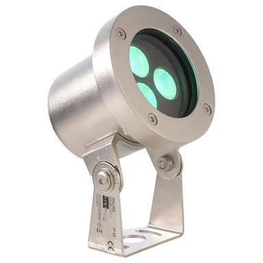 LED Unterwasserleuchte RGB Fiara in Silber und Transparent 10.3W IP68