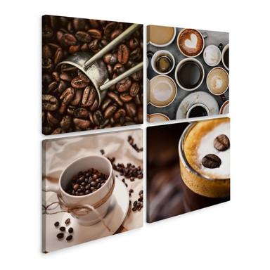 Leinwandbild Kaffee (4-teilig)