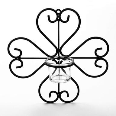 Metall Wand Teelichthalter 02 - 23x23cm - Bild 1