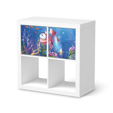 Möbel Klebefolie IKEA Expedit Regal 2 Türen (quer) - Bubbles