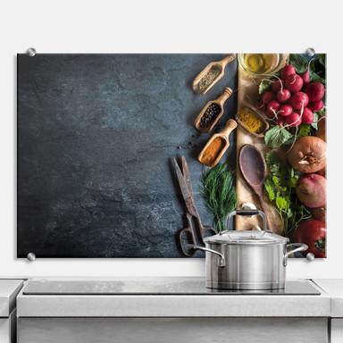 Spritzschutz - Aus dem Gemüsegarten
