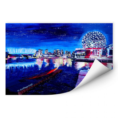 Wallprint Bleichner - Vancouver bei Nacht
