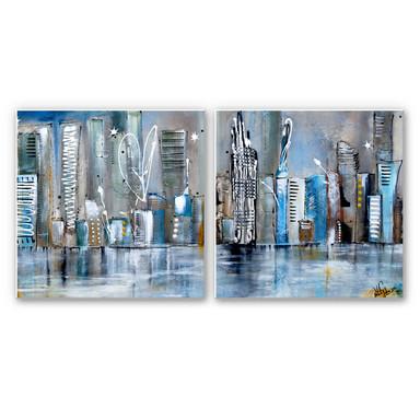 Wandbild Fedrau - Skyline (2-teilig)