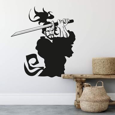 Wandtattoo Kämpfender Samurai