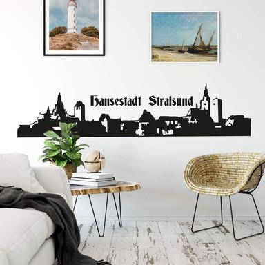 Wandtattoo Stralsund Skyline