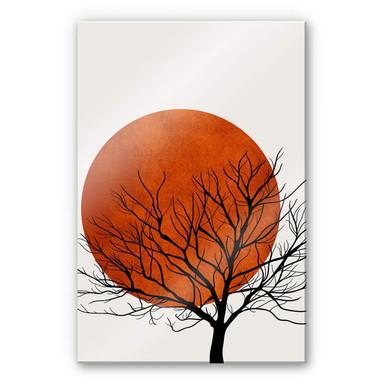 Acrylglasbild Kubistika - Warmer Sonnenuntergang