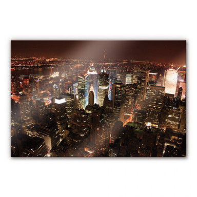 Arylglasbild Manhattan